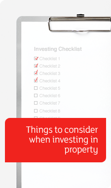 Investing Property Checklist banner - checkboard with checklists